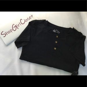 Littlest Prince Couture...Blk Shirt...size 12